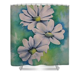 Shower Curtain featuring the painting Flowers For You by Chrisann Ellis