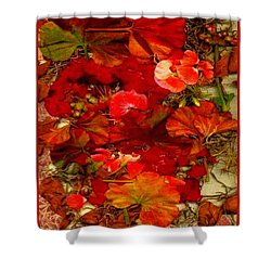 Shower Curtain featuring the mixed media Flowers For You by Ray Tapajna