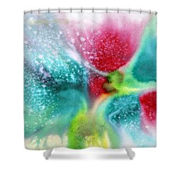 Flowers Forming Shower Curtain