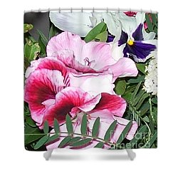 Shower Curtain featuring the photograph Flowers From The Heart by Jolanta Anna Karolska