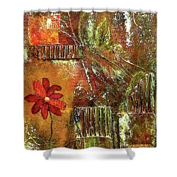 Flowers Grow Anywhere Shower Curtain