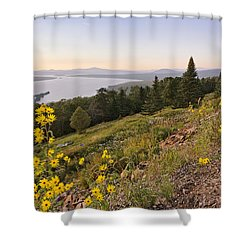 Flowers Height Of Land Shower Curtain