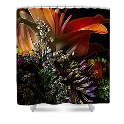 Shower Curtain featuring the digital art Flowers 2 by Stuart Turnbull
