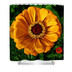 Shower Curtain featuring the photograph Flowers In A Flower 005 by George Bostian