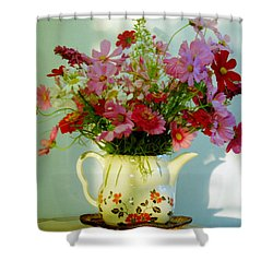 Flowers In A Teapot Shower Curtain