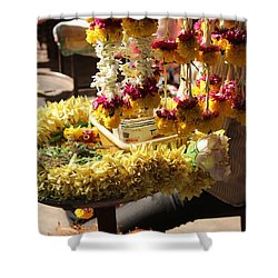 Flowers In The Market, Near Sajjangad 2 Shower Curtain by Jennifer Mazzucco