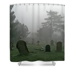 Flowers In The Mist Shower Curtain by Anne Kotan