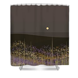 Flowers In The Moonlight Shower Curtain