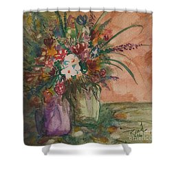 Flowers In Vases 2 Shower Curtain