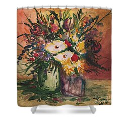 Flowers In Vases Shower Curtain
