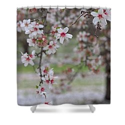 Flowers-like Snow Shower Curtain