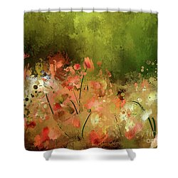 Shower Curtain featuring the digital art Flowers Of Corfu by Lois Bryan