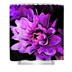 Flowers Of Lavender And Pink 1 Shower Curtain