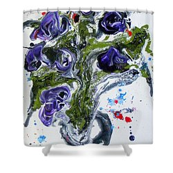 Flowers Of The Mind Shower Curtain by Pearlie Taylor