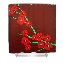 Flowers Shower Curtain by Oliver Johnston
