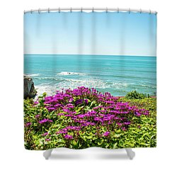 Flowers On The Cliff Shower Curtain