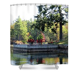 Flowers On The Rift Shower Curtain