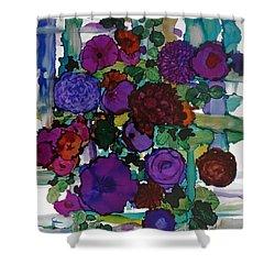 Flowers On Trellis Shower Curtain by Alika Kumar