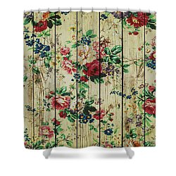 Flowers On Wood 01 Shower Curtain