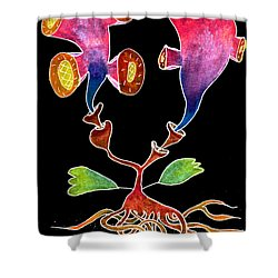 Flowers Shower Curtain by R Kyllo