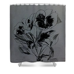 Flowers Sketch 2 Shower Curtain