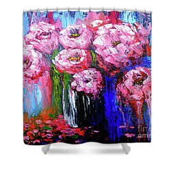 Flowers Shower Curtain by Viktor Lazarev