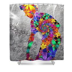 Flowerwoman Shower Curtain