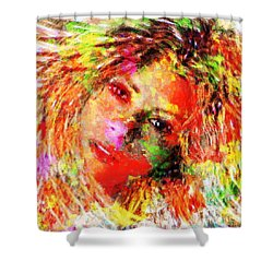 Flowery Shakira Shower Curtain by Navo Art