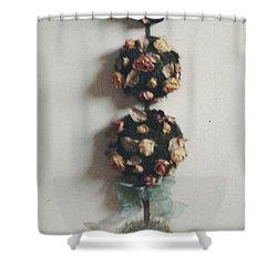 Flowery Teapot Shower Curtain