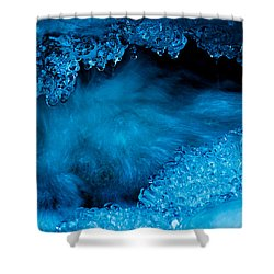 Flowing Diamonds Shower Curtain by Sean Sarsfield