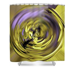Flowing Forsythia Shower Curtain by Cathy Donohoue