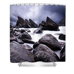 Flowing Shower Curtain by Jorge Maia