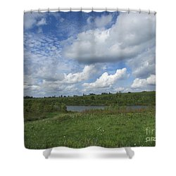Flowing Low Shower Curtain