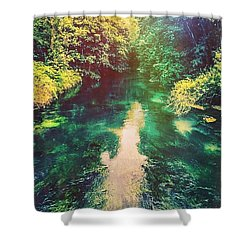 Flowing River  Shower Curtain