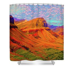 Flowing Rock Shower Curtain
