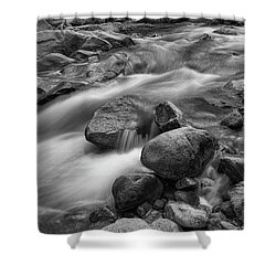 Shower Curtain featuring the photograph Flowing Rocks by James BO Insogna