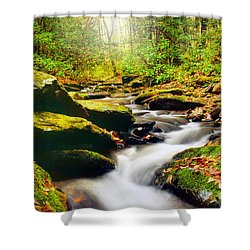 Flowing Softly Shower Curtain