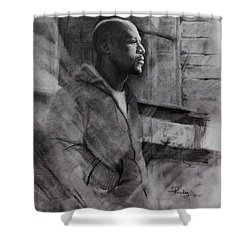 Reflections Of Floyd Mayweather Shower Curtain by Noe Peralez