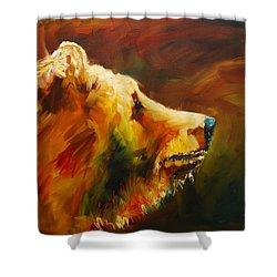 Fluffy Bear Shower Curtain