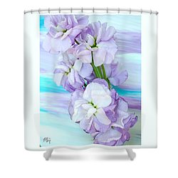 Fluffy Flowers Shower Curtain