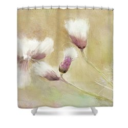 Fluffy Thistle Shower Curtain