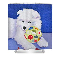 Fluffy's Portrait Shower Curtain