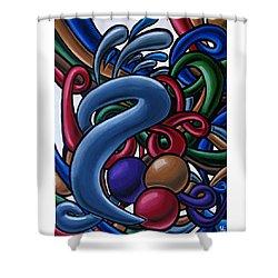 Fluid 1 - Abstract Art Painting - Chromatic Fluid Art Shower Curtain
