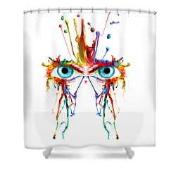 Fluid Abstract Eyes Shower Curtain by Robert G Kernodle