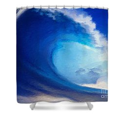 Fluid Shower Curtain by Anthony Fishburne