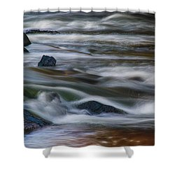 Fluid Motion Shower Curtain by Steven Richardson