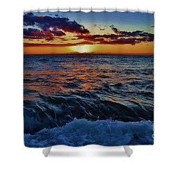 Fluid Sunset Shower Curtain