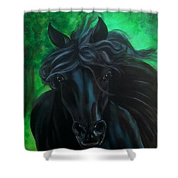 Shower Curtain featuring the painting Fluing High by Thomas Lupari