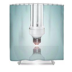 Fluorescent Light Bulb Shower Curtain