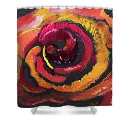 Fluorescent Rose Shower Curtain by Meryl Goudey